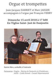 Concert 2 trompettes et Orgue @ Eglise - Danjoutin