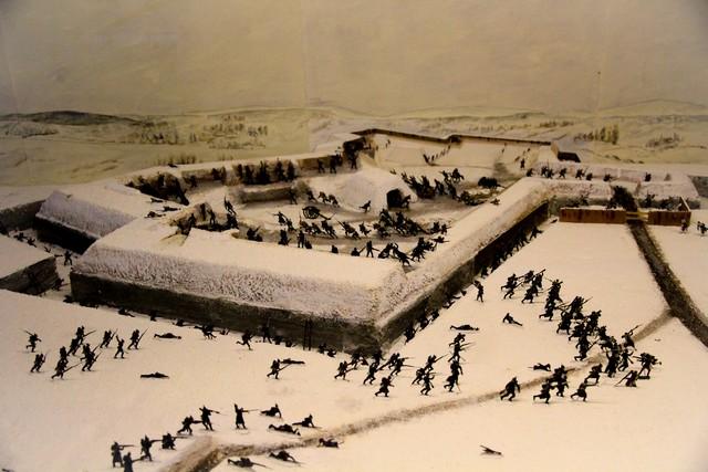 Maquette du Fort des Basses Perches 1871 – Réalisation M. Michalet – Belfort