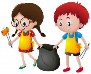 Nettoyage de la Commune par des élèves des écoles et du collège
