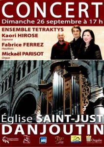 Concert Ensemble Tétraktys @ Eglise Saint-Just