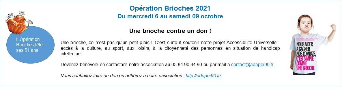 Opération Brioches au profit de l'ADAPEI