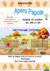 Apéro Papote - Nettoyage citoyen @ Maison pour Tous